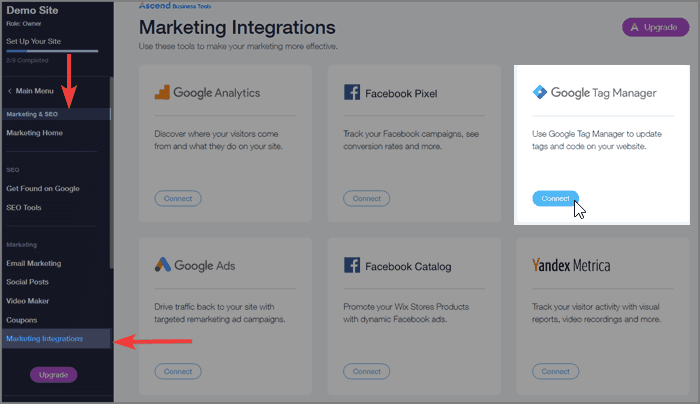 Wix Marketing Integration for Google Tag Manager